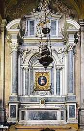 Interior of Chiesa dei Gesuiti (Venice) - left nave - cappella del Sacro Cuore.jpg