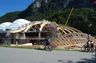Stadium in Inzell, Germany. Often used for speed skating.