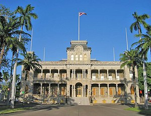 Wilcox rebellion of 1889 - Modern photo of Iolani Palace