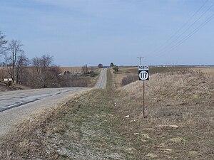 Iowa Highway 117 - Iowa 117 in rural Jasper County south of Mingo.