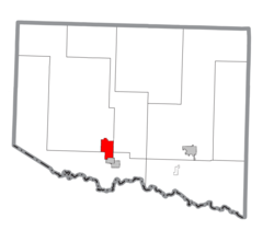 Location within Iron County
