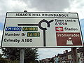 Isaac's Hill roundabout sign, Cleethorpes - DSC07322.JPG