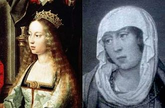 War of the Castilian Succession - Left, Isabella I of Castile. Right, Joanna la Beltraneja