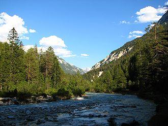 Hinterau valley - Die Isar im Hinterautal