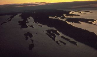 Midcontinent Rift System - Image: Isle Royale aerial