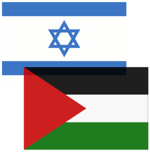Israeli and Palestinian Flags