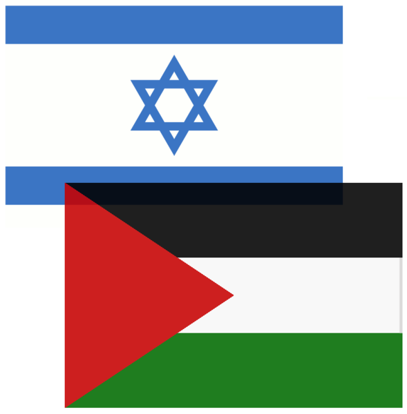 Datei:Israeli and Palestinian Flags.png