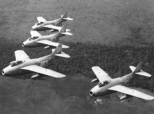 J-29 jets in the Congo