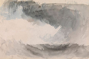 Snow Storm: Steam-Boat off a Harbour's Mouth - Turner's watercolour, Storm at Sea
