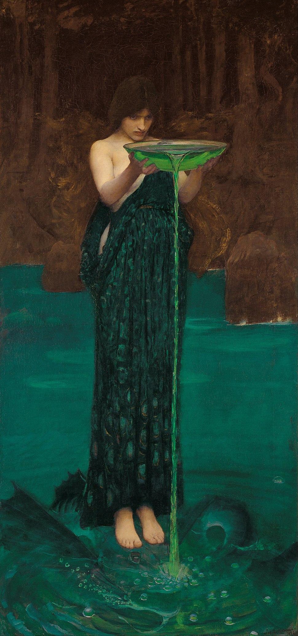 J. W. Waterhouse - Circe Invidiosa - Google Art Project