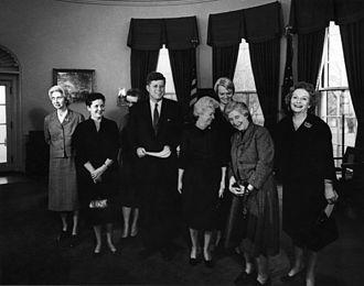 Allene Jeanes - Allene R. Jeanes (far left) with American President John F. Kennedy