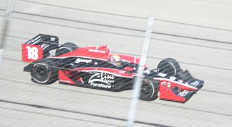 Justin Wilson (racing driver) - Wilson racing at the Milwaukee Mile for Dale Coyne Racing in 2009