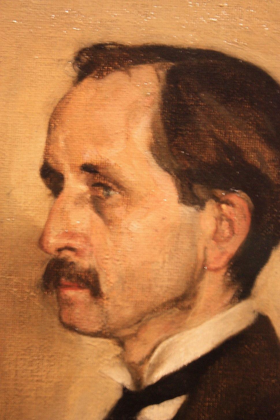 J M Barrie by Sir William Nicholson 1903, SNPG