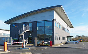 Exeter Airport - Jack Walker House, Flybe head office at Exeter Airport