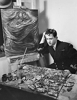 Jack Nichols (painter) - Jack Nichols, war artist, circa 1945.