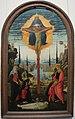 Jacopo del sellaio, altare votivo con la trinità, i dolenti e i committenti, 1480-85 ca. 01.JPG