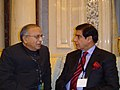 Jaipal Reddy at the bilateral meeting with the, Minister for Water and Power, Pakistan, Mr. Raja Parvez Ashraf.jpg