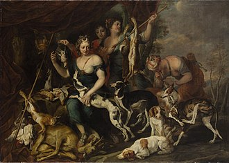 Jan Fyt - Diana's hunt, collaboration with Thomas Willeboirts Bosschaert