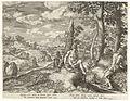 Jan Sadeler I - Paisagem Fluvial com Três Homens Nus e um Cão.jpg