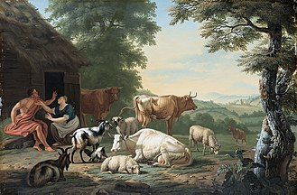 Jan van Gool - Landscape with shepherds