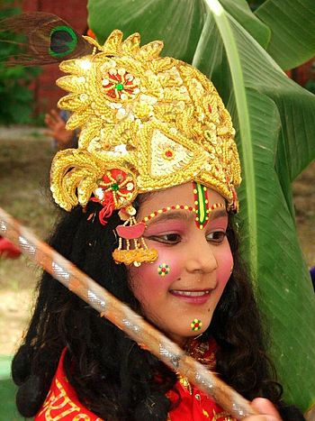 Child dressed up for Janmashtami/Gokulashtami,...