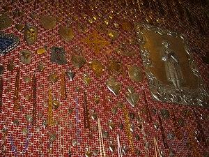 Wota na ścianie kaplicy