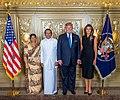 Jayanthi Sirisena, Maithripala Sirisena, Donald Trump, and Melania Trump.jpg