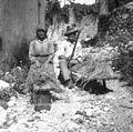 Ječmen mlatijo za kavo, Borjana 1951.jpg