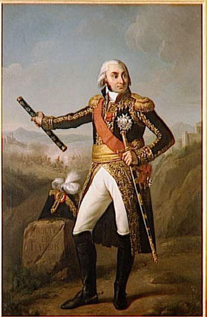 Baton (military) - Jean-Baptiste Jourdan with marshal's baton