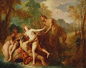 Syrinx - Pan and Syrinx by Jean-François de Troy.