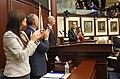 Jeanette Núñez, Richard Corcoran, Anitere Flores, and Joe Negron applaud Rick Scott.jpg