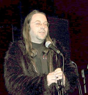 Alternative Party (demoparty) - Jeff Minter speaking at Alternative Party 2003