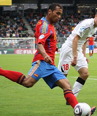 Jeffrén Suárez - Jeffrén playing with the Spanish under-21s in 2011