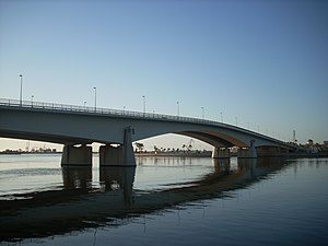 English: The Jeliana Bridge in Benghazi, Libya...