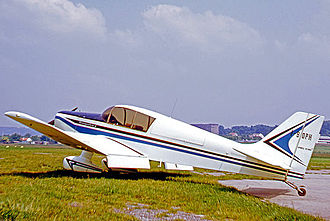 SAN Jodel D.140 Mousquetaire - Jodel D.140E showing the enlarged fin at St Cyr l'Ecole airfield near Paris in 1969