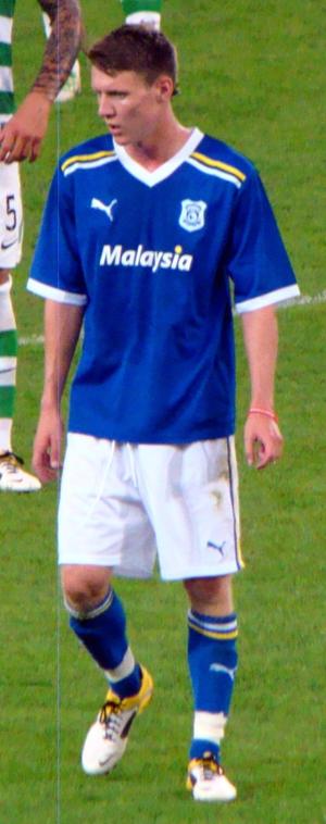 Joe Mason (footballer, born 1991) - Mason in Cardiff colours