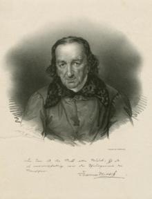Johann Aloys Miksch (1765–1845), 1938 lithograph by Ernst Benedikt Kietz[de] (The New York Public Library)[1] (Source: Wikimedia)