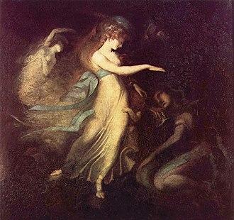 Fairy Queen - Prince Arthur and the Fairy Queen by Johann Heinrich Füssli, c. 1788.