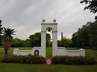 Huguenot Monument - the Huguenot Monument in the Johannesburg Botanical Garden was erected in 1988, to commemorate the 300th anniversary of the arrival of the Huguenots in South Africa.