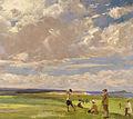 John Lavery - Lady Astor playing golf at North Berwick.jpg