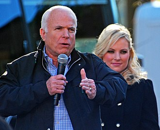 Meghan McCain - McCain campaigning with her father in 2008