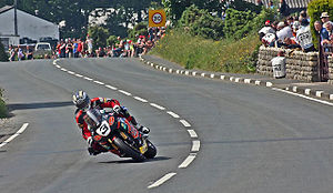Rhencullen - John McGuinness midway through Rhencullen in 2011