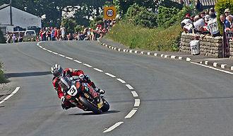 Rhencullen - John McGuinness midway through Rhencullen in 2011