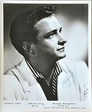 Johnny Cash Sun Records promotional portrait