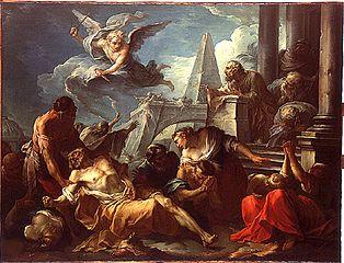 David se résigne à la volonté du Seigneur, qui a frappé son royaume de la peste