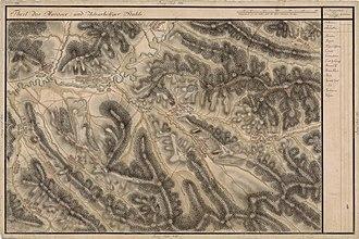 Sângeorgiu de Pădure - As Erdő Szent Györgÿ on Josephine Land survey, 18th century