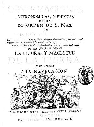 Jorge Juan y Santacilia - Observaciones astronomicas y phisicas, 1748