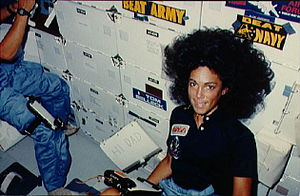 Judith Resnik - Resnik on the middeck of Discovery during STS-41-D