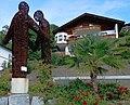 Kärntens drei Kulturen, Skulptur von Fritz Russ in Millstatt, Kärnten.jpg