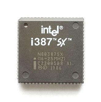 Intel 80387SX - An Intel i387SX (16 MHz - 25 MHz).